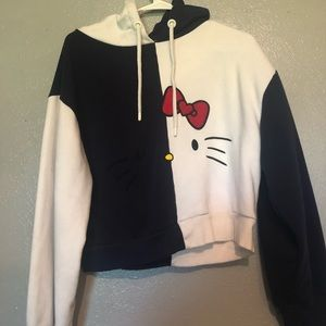 Hello kitty x asos cropped hoodie